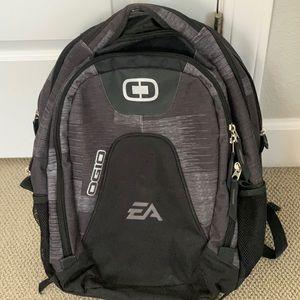 EA branded backpack